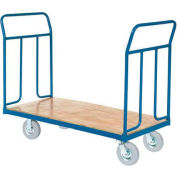 "Wood Deck Platform Truck 8"" Pneumatic Wheels 1200 Lb. Capacity"