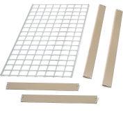 """Bulk Rack Shelf Wire Deck 48""""W x 12""""D Tan"""