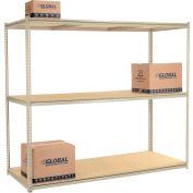 "High Capacity Starter Rack 96""W x 48""D x 84""H With 3 Levels Wood Deck 800lb Cap Per Shelf"