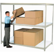 "Wide Span Rack 72""W x 48""D x 84""H Gray With 3 Shelves Laminated Deck 900 Lb Cap Per Level"