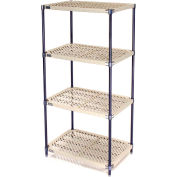 Vented Plastic Shelving 30x24x74 Nexelon Finish