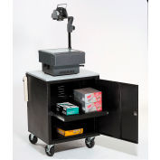 Black Security Audio/Visual Cart 500 Lb. Capacity