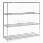 """Nexel Stainless Steel Wire Shelving 72""""W X 24""""D X 74""""H"""