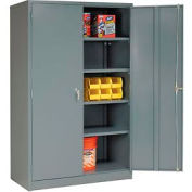 Global™ Metal Storage Cabinet Easy Assembly 48x24x78 Gray