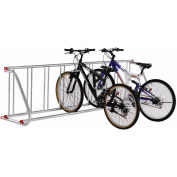 Grid Bike Rack, 9-Bike, Single Sided, Powder Coated Steel