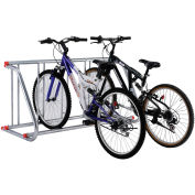 Grid Bike Rack, 5-Bike, Single Sided, Powder Coated Galvanized Steel