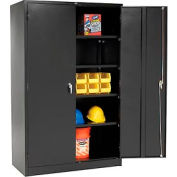Global™ Storage Cabinet Assembled 48x24x78 Black