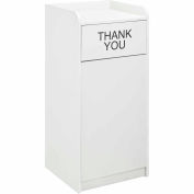 Global Industrial™ 36 Gallon Wooden Waste Receptacle With Tray Top Gray