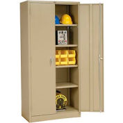 """Global Industrial™ Storage Cabinet, Turn Handle, 36""""Wx18""""Dx78""""H, Tan, Assembled"""