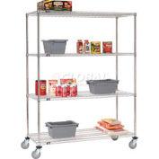 Nexel® Stainless Steel Wire Shelf Truck 48x18x69 1200 Lb. Capacity