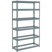 """Extra Heavy Duty Shelving 48""""W x 24""""D x 84""""H With 6 Shelves, No Deck"""