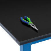 """72""""W x 30""""D x 1""""Thick Phenolic Resin Safety Edge Workbench Top"""