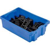 """LEWISBins SN2012-6 Polyethylene Container 20""""L x 13""""W x 6-1/4""""H, Blue - Pkg Qty 5"""