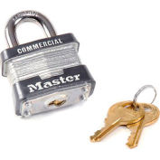 "Master Lock® No. 3 Keyed Padlock 3/4"" Shackle Keyed Different - Pkg Qty 3"