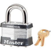 "Master Lock® No. 5KA Keyed Padlock - 1"" Shackle - Keyed Alike - Pkg Qty 3"