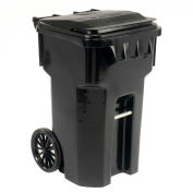 Otto Mobile Trash Container, 65 Gallon Black - 6956060F-B41
