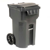 Otto Mobile Trash Container, 65 Galllon Gray - 6955050F-B43