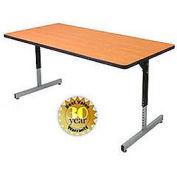 "Allied Plastics Computer and Activity Table - Adjustable Height - 72"" x 36"" - Oak"