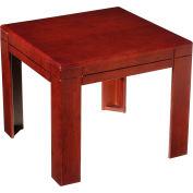 """Boss Reception End Table - 22"""" - Mahogany"""