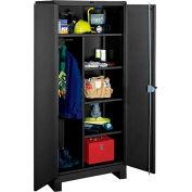 Lyon Heavy Duty Combination Storage Cabinet KK1121 - 36x24x82 - Black