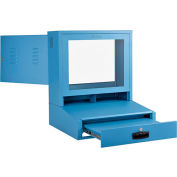 Global Industrial™ LCD Counter Top Security Computer Cabinet, Blue