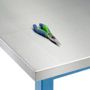 "72"" W x 30"" D x 1-1/2"" Thick, Stainless Steel Square Edge Workbench Top"