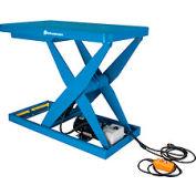 Bishamon® OPTIMUS Lift3K Power Scissor Lift Table 48x28 3000 Lb. Cap. Hand Control L3K-2848