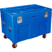 """Myton Shipping Container and Site Box RC-4534H5 with Casters - 45""""L x 30""""W x 34""""H, Blue"""