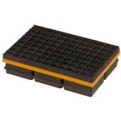 """Mason Industries WMSW6X6 Pad de Super W - néoprène et des tapis en acier avec Friction Pad 6 """"X 6"""" X 1 1/4"""""""