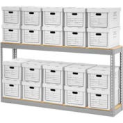 "Record Storage With Boxes 72""W x 15""D x 36""H"