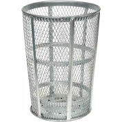 Global Industrial™ Outdoor Steel Mesh Corrosion Resistant Trash Can, 48 Gallon, Argent