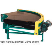 "Omni Power Turn Belt Conveyor BCCU-PT60-24-90LH 24""W 90 Degree Left Curve 60 Degree Radius 1.5 HP"