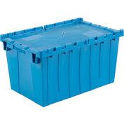 Global Industrial™ Plastic Attached Lid Shipping & Storage Container 25-1/4x16-1/4x13-3/4 Blue