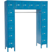 """Global Industrial™ Paramount® 16 Person Locker, 12""""Wx18""""Dx12""""H, Blue, Unassembled"""
