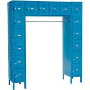 Paramount® 16 Person Locker 12  X 18 X 12 Assembled Blue