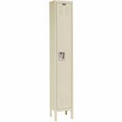 Hallowell U1258-1A-PT Premium Locker Single Tier 12x15x72 1 Door Assembled Parchment