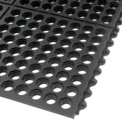 """Extra Value Drainage Matting 1/2"""" Thick 3'Wx10'L Black With Grit Top"""