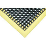 "Apache Mills Safety TruTred؀ Drainage Mat 7/8"" Thick 2' x 3' Black/Yellow"