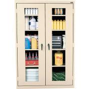 Sandusky Clear View Storage Cabinet EA4V462472 - 46x24x72, Putty