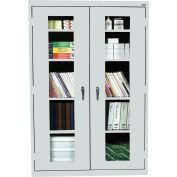 Sandusky Clear View Storage Cabinet EA4V462472 - 46x24x72, Light Gray