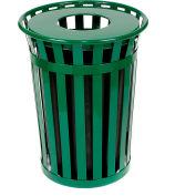 Global Industrial™ Outdoor Metal Waste Receptacle - 36 Gallon Green