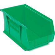 "Akro-Mils AkroBin® Plastic Stacking Bin 30240 - 8-1/4""W x 14-3/4""D x 7""H, Green - Pkg Qty 12"