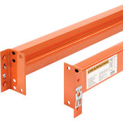 "Global Industrial™ Unslotted Steel Pallet Rack Beam, 144""L x 6""H, 5970 Lb. Cap., Set Of 2"
