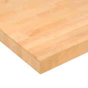 """Global Industrial™ Maple Butcher Block Square Edge Workbench Top, 60""""W x 24""""D x 1-3/4""""H"""