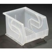 """LEWISBins Plastic Stacking Bin PB108-7CLEAR - 8-1/4""""W x 10-3/4""""D x 7""""H, Clear - Pkg Qty 6"""