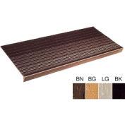 """Vinyl Tread Rib Pattern 48""""W Brown - Pkg Qty 4"""