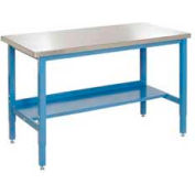 Global Industrial™ 60 x 30 Lab Workbench Adj. Height Square Tube Leg, Stainless Square Edge BL