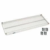 """Nexel S2442Z Poly-Z-Brite Wire Shelf 42""""W x 24""""D with Clips"""