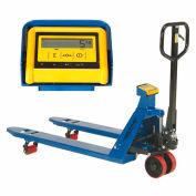 Transpalette peseur avec indicateur de poids, capacité de5500 lb, fourches 27 x48