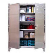Strong Hold® Heavy Duty Storage Cabinet 65-243SS - Stainless Steel 72 x 24 x 66